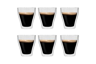 Espressoglas dubbelväggiga 6 st 280 ml