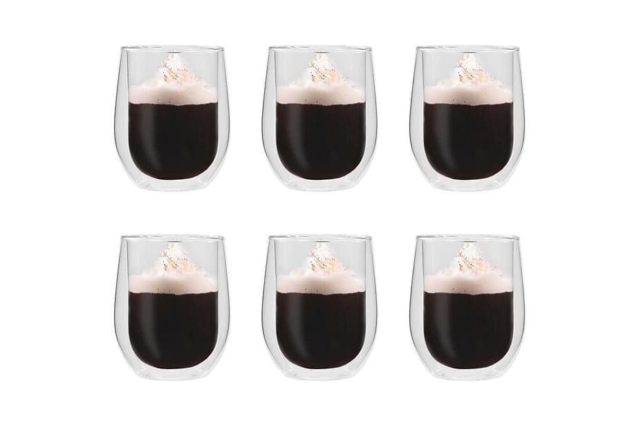 Espressoglas dubbelväggiga 6 st 320 ml