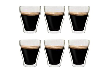 Espressoglas dubbelväggiga 6 st 370 ml