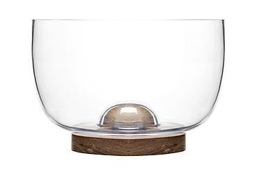 Oval oak skål