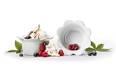 Piccadilly Portionsskål ugnssäker 2-pack, vit