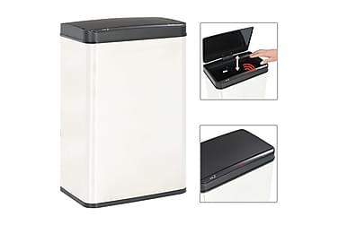 Soptunna automatisk sensor silver/svart rostfritt stål 60 L