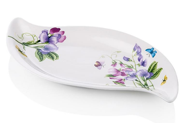 Tallrik Noble Life 35 cm Porslin - Vit Lila Grön - Inredning - Husgeråd & kökstillbehör - Tallrikar
