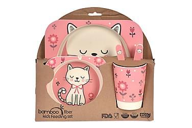 Barnset Pomerol Katt 5 Delar Bambu
