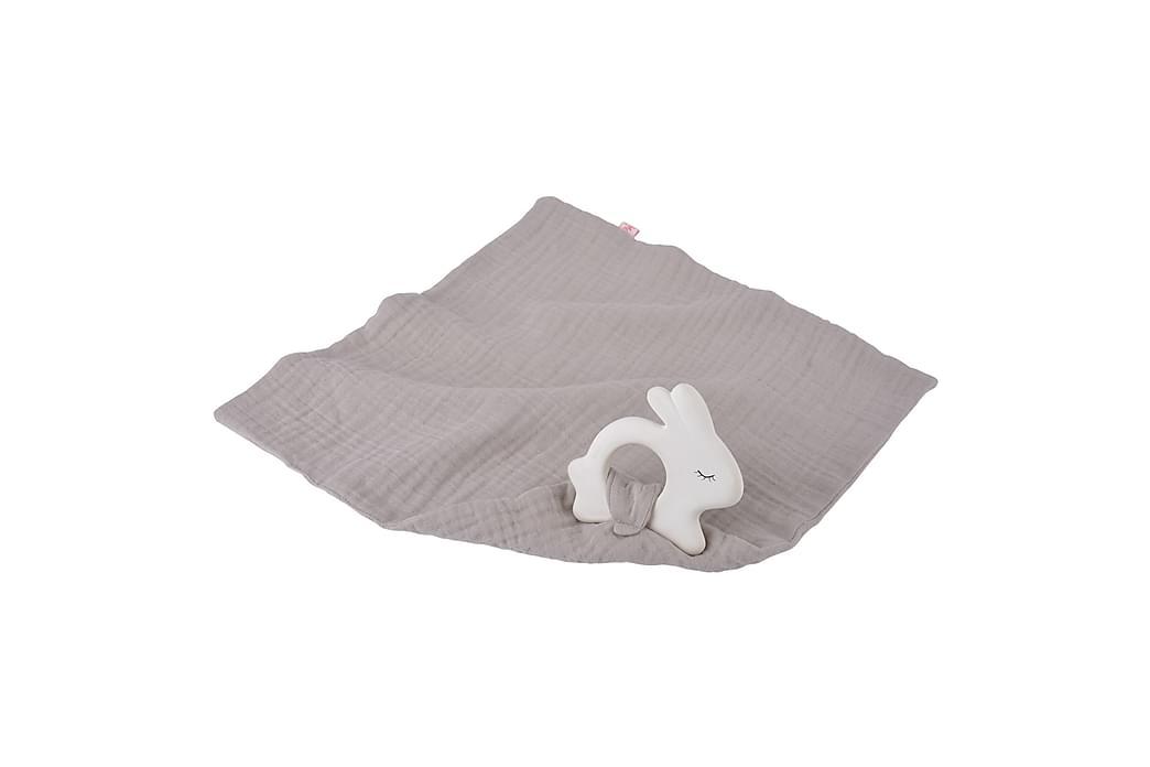 Bitring Kanin med snuttefilt Silver - Kikadu - Inredning - Inredning barnrum - Dekoration barnrum