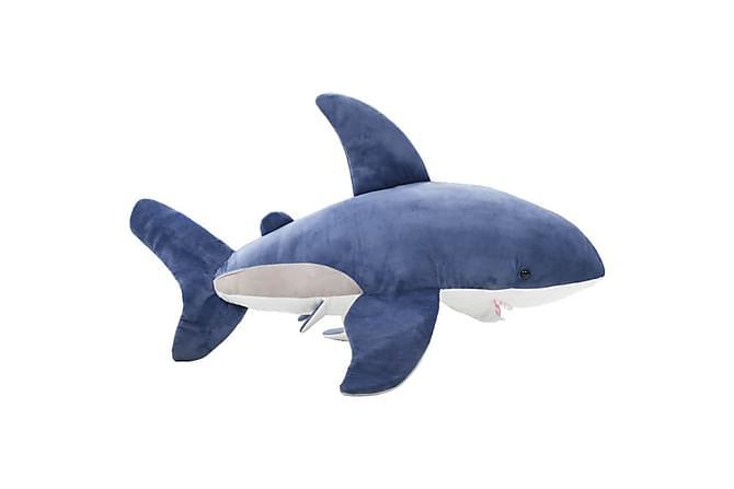 Gosedjur haj plysch blå och vit - Blå - Inredning - Inredning barnrum - Dekoration barnrum