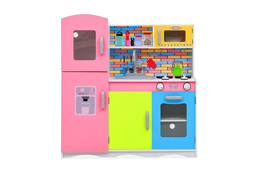 Leksakskök MDF 80x30x85 cm flerfärgad - Flerfärgad - Inredning - Inredning barnrum - Dekoration barnrum