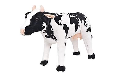 Stående leksaksko plysch svart och vit XXL