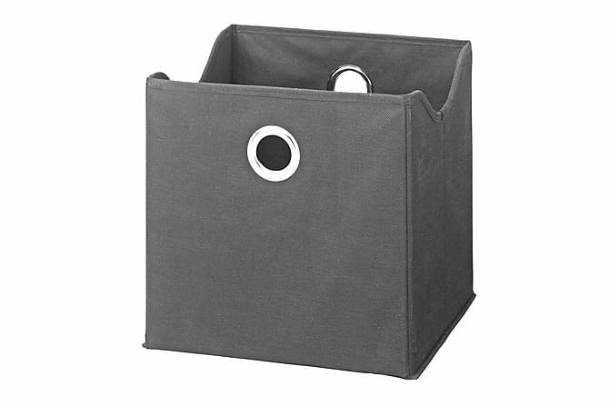 9-pack Boxar Grå Textil - Grå|Svart - Inredning - Inredning barnrum - Leksaksförvaring