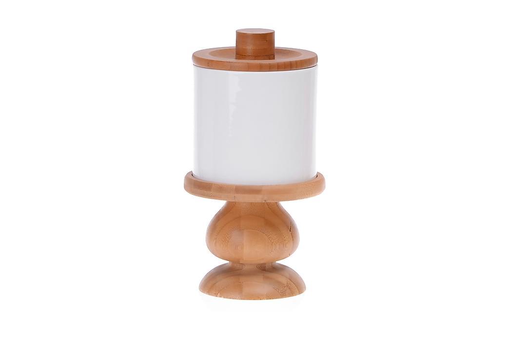 Kruka Kosova m Lock 13x24 cm Bambu/Porslin - Vit - Inredning - Hängare & klädhängare - Klädhängare