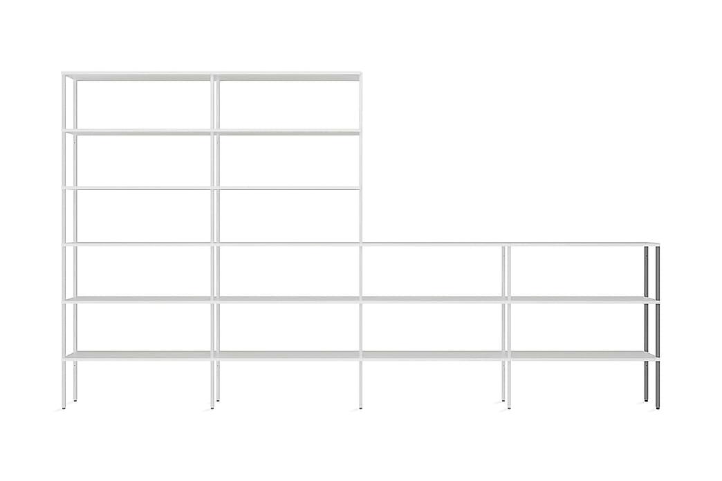 Stolpe Miksa 2x108 cm Låg Ytterdel 2-pack Vertikal - Vit Metall - Inredning - Hängare & klädhängare - Klädhängare