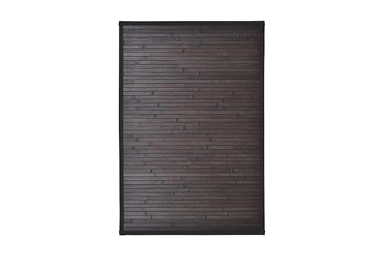 2 Badrumsmattor i bambu 40x50 cm mörkbrun - Brun - Inredning - Textilier - Badrumstextilier