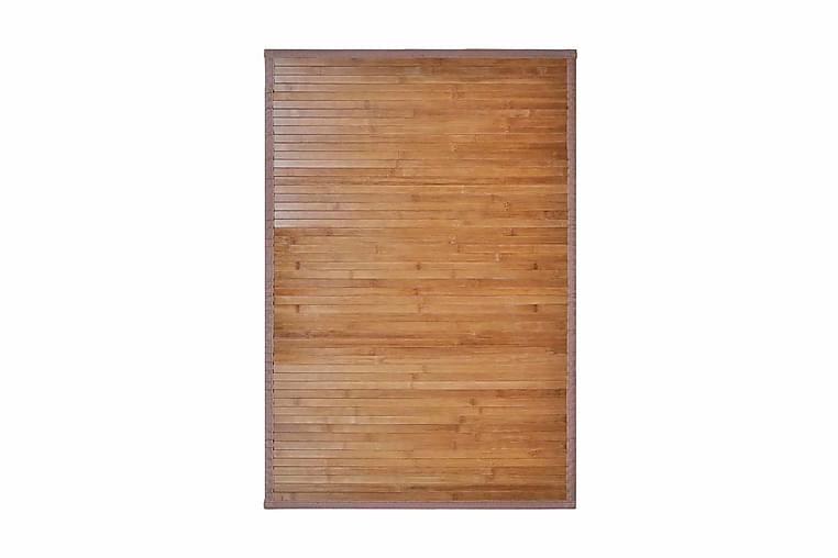 Badrumsmatta i bambu 60x90 cm brun - Brun - Inredning - Textilier - Badrumstextilier