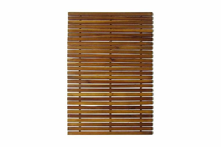 Badrumsmattor 3 st akacia 80x50 cm - Brun - Inredning - Textilier - Badrumstextilier