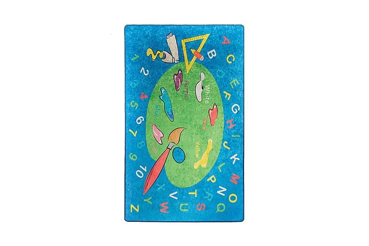 Barnmatta Coloring 140x190 cm - Flerfärgad/Sammet - Inredning - Mattor - Barnmattor