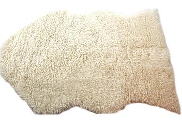 Fäll Kryllig Mjuk Vit Polyester 60x90 cm