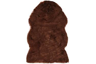 Matta 60x90 cm konstgjort fårskinn brun