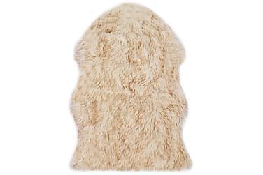 Matta 60x90 cm konstgjort fårskinn brun melange