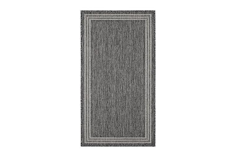 Matta Madrid Frame 80x150 cm Flatvävd - Grå - Inredning - Mattor - Små mattor