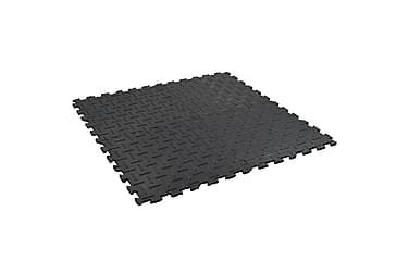 Halkfria mattor 4 st 60x60 cm 12 mm spår