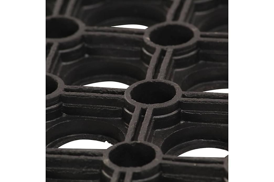 Gummimatta 23 mm 80x120 cm - Svart - Inredning - Mattor - Gummerade mattor