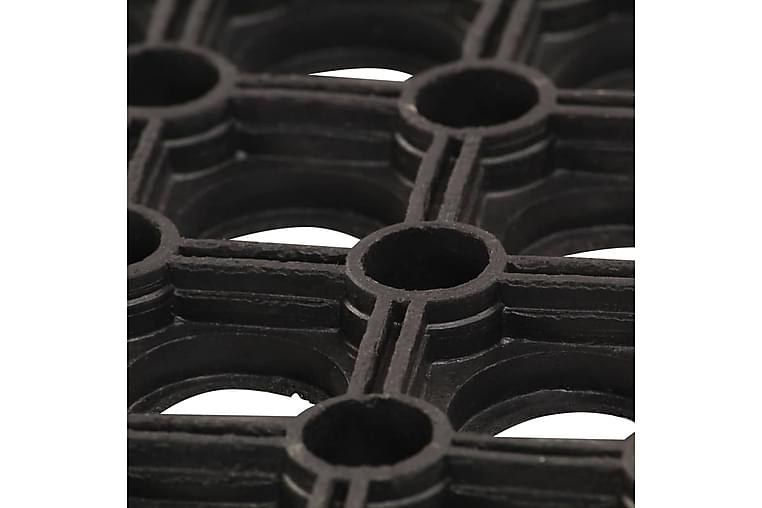 Gummimattor 5 st 23 mm 40x60 cm - Svart - Inredning - Mattor - Gummerade mattor