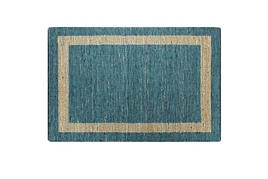 Handgjord jutematta blå 120x180