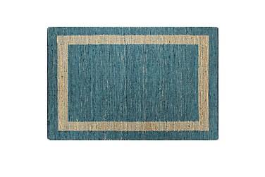 Handgjord jutematta blå 80x160
