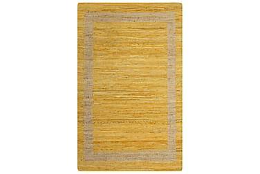 Handgjord jutematta gul 80x160 cm
