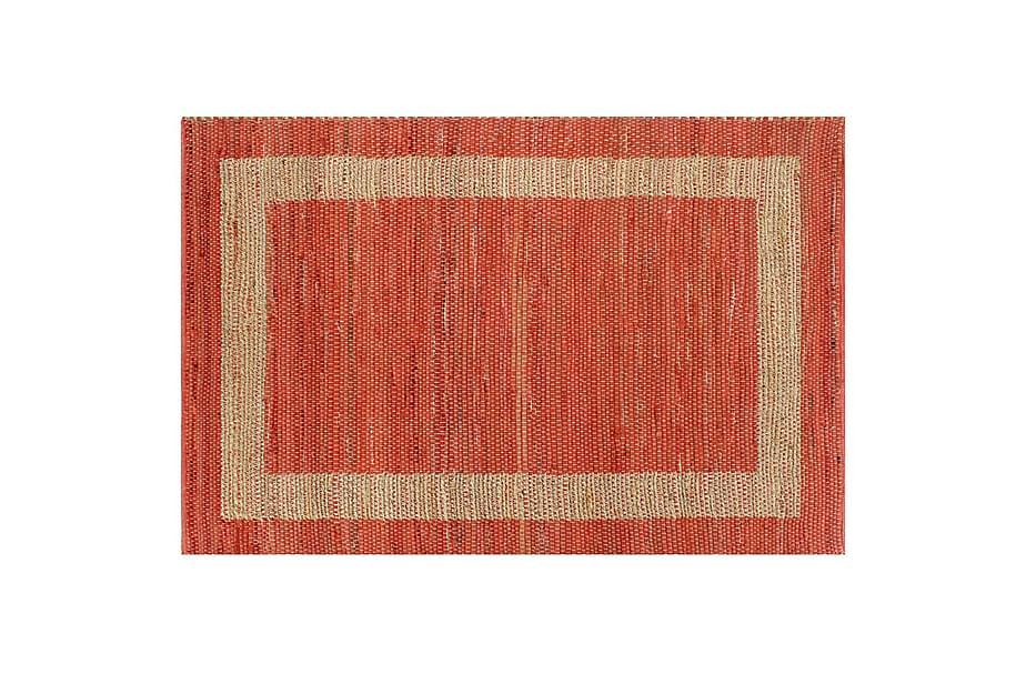 Handgjord jutematta röd 120x180