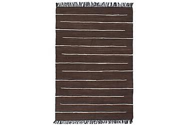Handvävd matta Chindi bomull 120x170 brun