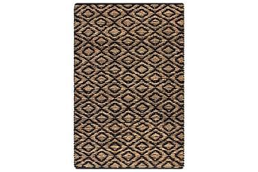 Matta handvävd jute 120x180 beige och svart