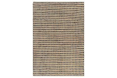 Matta handvävd jute 160x230 beige och svart