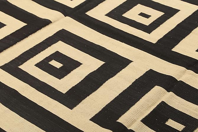 Stor Kelimmatta Moderna 185x225 - Svart|Vit - Inredning - Mattor - Kelimmattor