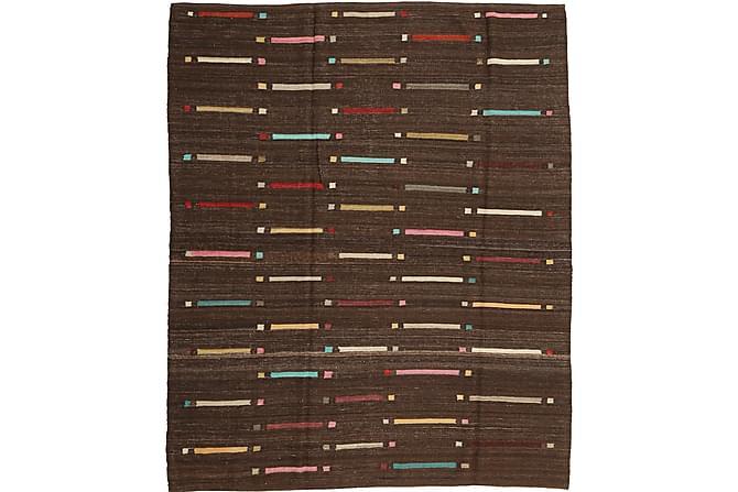 Stor Kelimmatta Moderna 190x225 - Brun - Inredning - Mattor - Kelimmattor