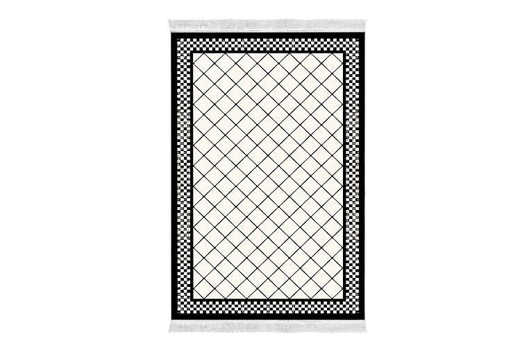 Matta Alanur Home 100x200 cm - Svart/Vit - Inredning - Mattor - Mönstrade mattor