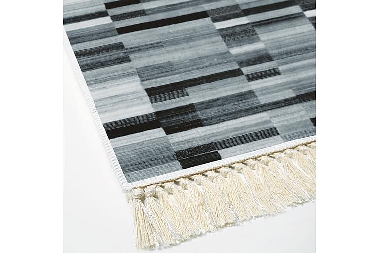 Matta Alanur Home 100x300 cm - Svart/Grå/Vit - Inredning - Mattor - Mönstrade mattor