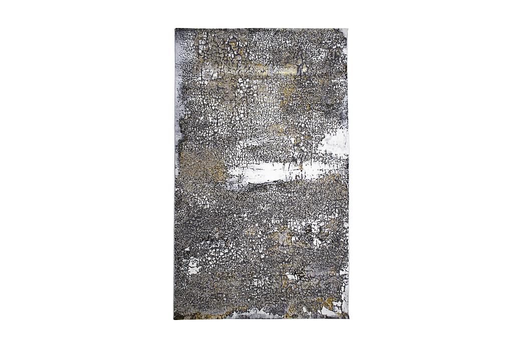Matta Asaphe 150x230 cm - Vit/Grå/Guld - Inredning - Mattor - Mönstrade mattor