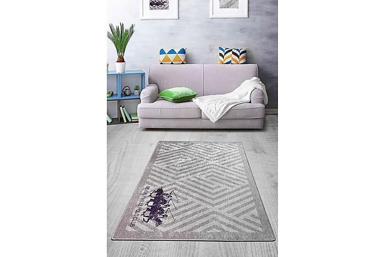 Matta Blantin 140x190 cm - Grå/Lila/Sammet - Inredning - Mattor - Mönstrade mattor