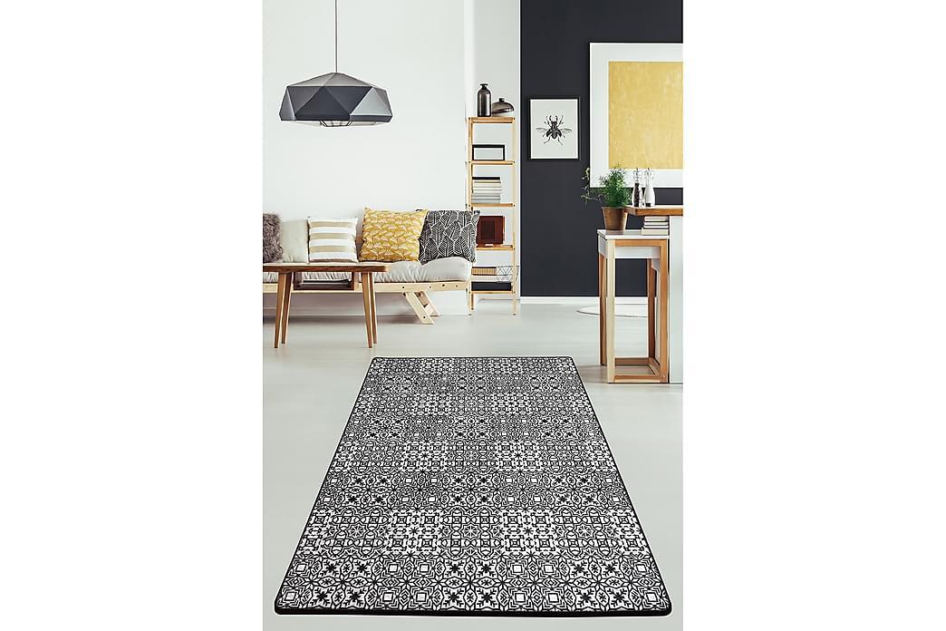 Matta Chilai 100x300 cm - Svart/Vit - Inredning - Mattor - Mönstrade mattor