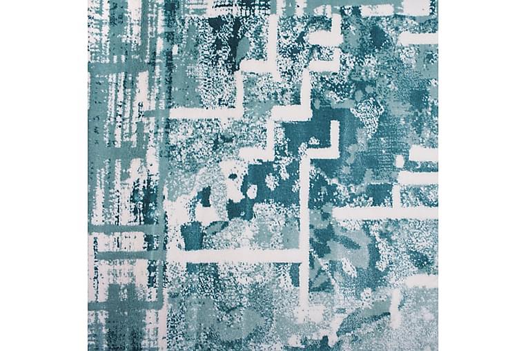 Matta Diamond Vit/Turkos 160x230 - Pierre Cardin - Inredning - Mattor - Mönstrade mattor