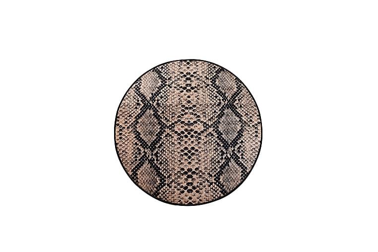 Matta Serpente Rund 140 cm - Flerfärgad/Sammet - Inredning - Mattor - Mönstrade mattor