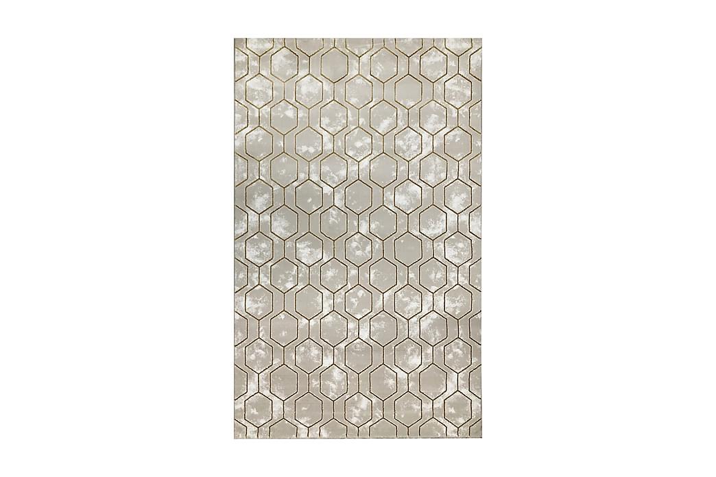 Matta Tacettin 120x170 cm - Guld - Inredning - Mattor - Mönstrade mattor