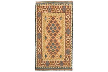 Orientalisk Kelimmatta Afghan 100x192