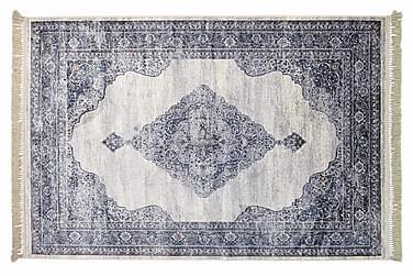 Konstsilke Sivas Matta 190x290  Blå