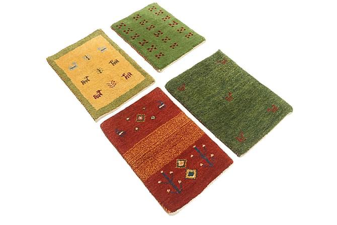 Matta Gabbeh 40x60 Persisk 4-pack - Grön Gul Röd - Inredning - Mattor - Orientaliska mattor
