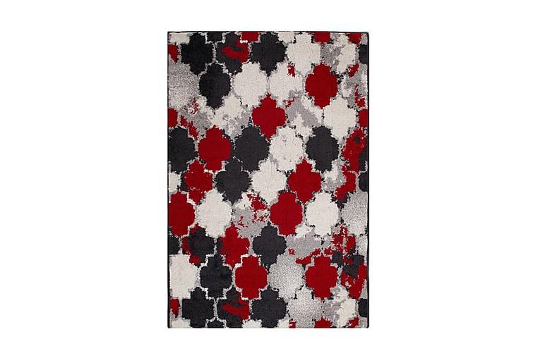 Matta Lotto-6 100x150 cm Röd/Svart/Vit - Inredning - Mattor - Orientaliska mattor
