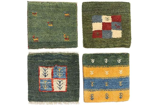 Orientalisk Matta Gabbeh 40x40 4-pack - Flerfärgad - Inredning - Mattor - Orientaliska mattor