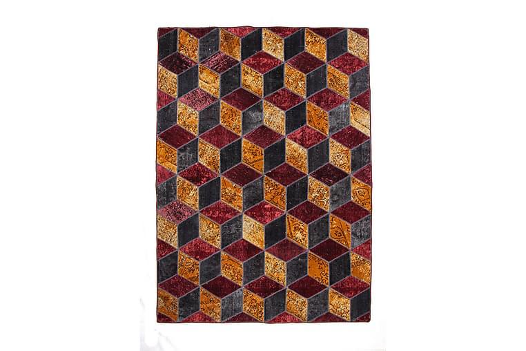 Handknuten Patchworkmatta Ull/Garn Flerfärgad 177x244cm - Flerfärgad - Inredning - Mattor - Patchwork-matta