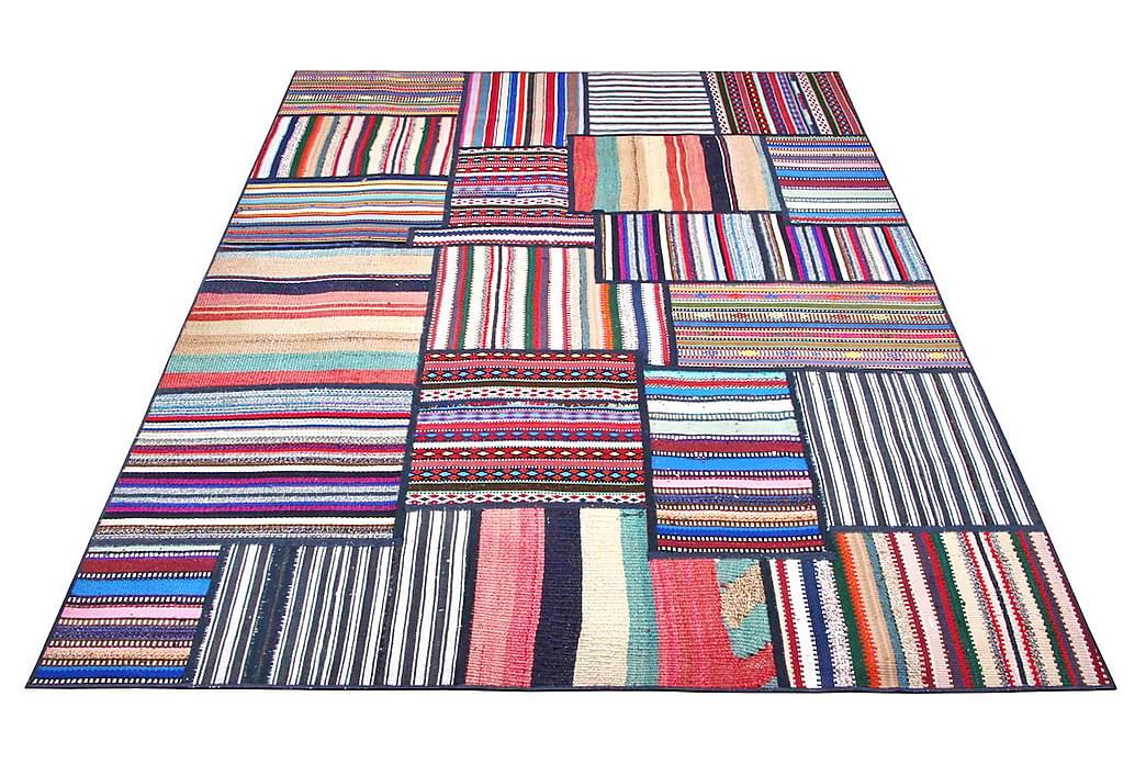 Handknuten Persisk Patchworkmatta 155x208 cm - Flerfärgad - Inredning - Mattor - Patchwork-matta